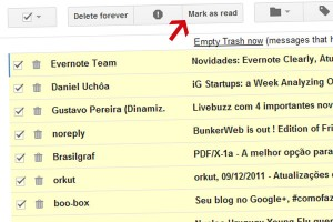 """Mark as Read Button"" no GMail Labs"