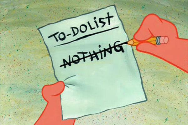 Lista de tarefas do Patrick do Bob Esponja
