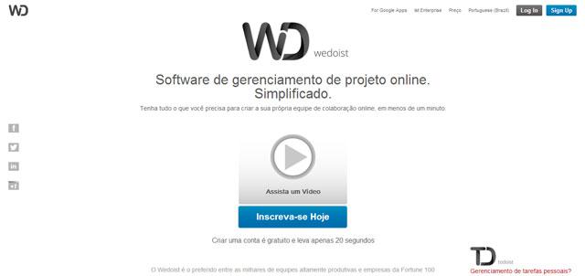 Gerencie projetos online com Webdoist