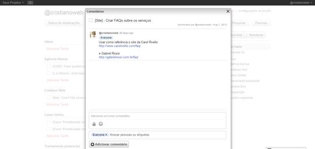 Wedoist: Faça comentários para as tarefas com texto, emoticons e arquivos