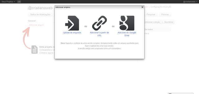 Wedoist: Vincule arquivos públicos via Google Drive para sua demanda