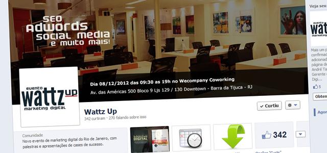 Fanpage oficial do evento Wattz Up