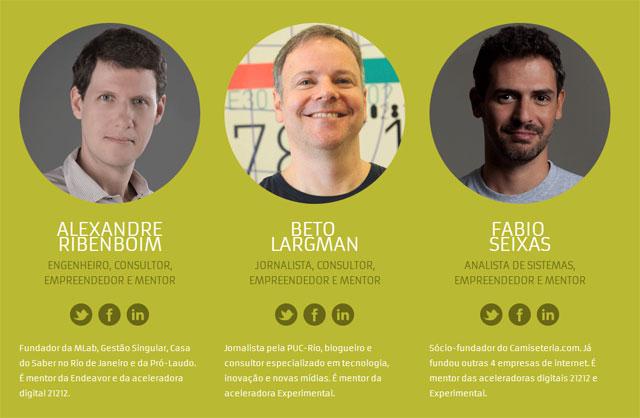 Alexandre Ribenboim, Beto Largman e Fabio Seixas