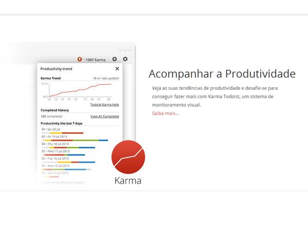 """A função """"Karma"""" ajuda você a manter o foco na produtividade"""