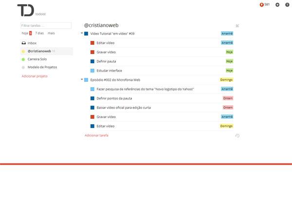 Interface minimalista e muito fácil de usar