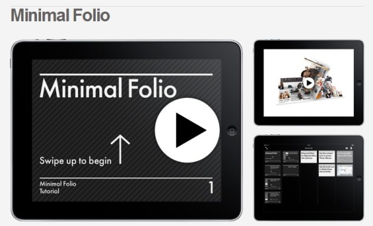 Minimal Folio  Simple portfolio App for iPad  iPhone and iPod Touch