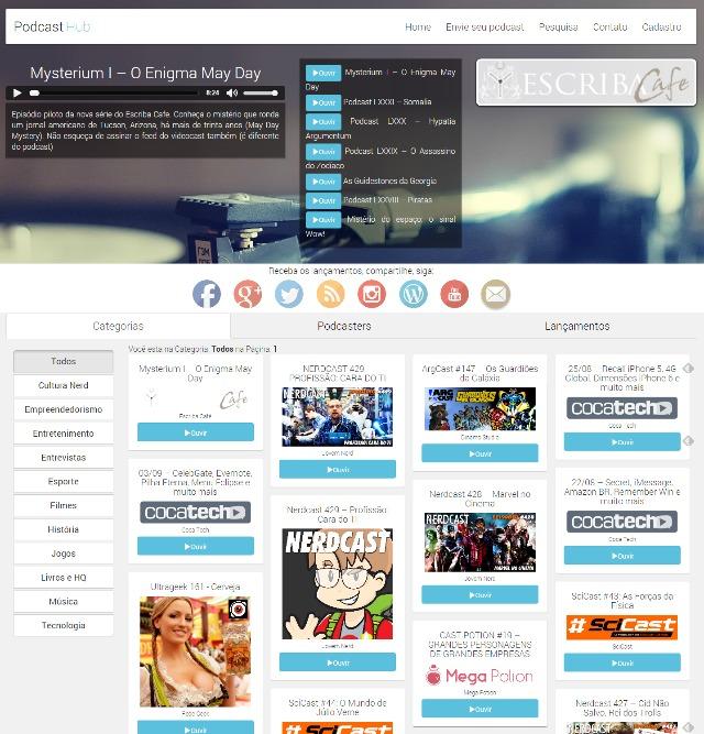 Podcasthub.com.br - Um indexador lançado a poucas semanas